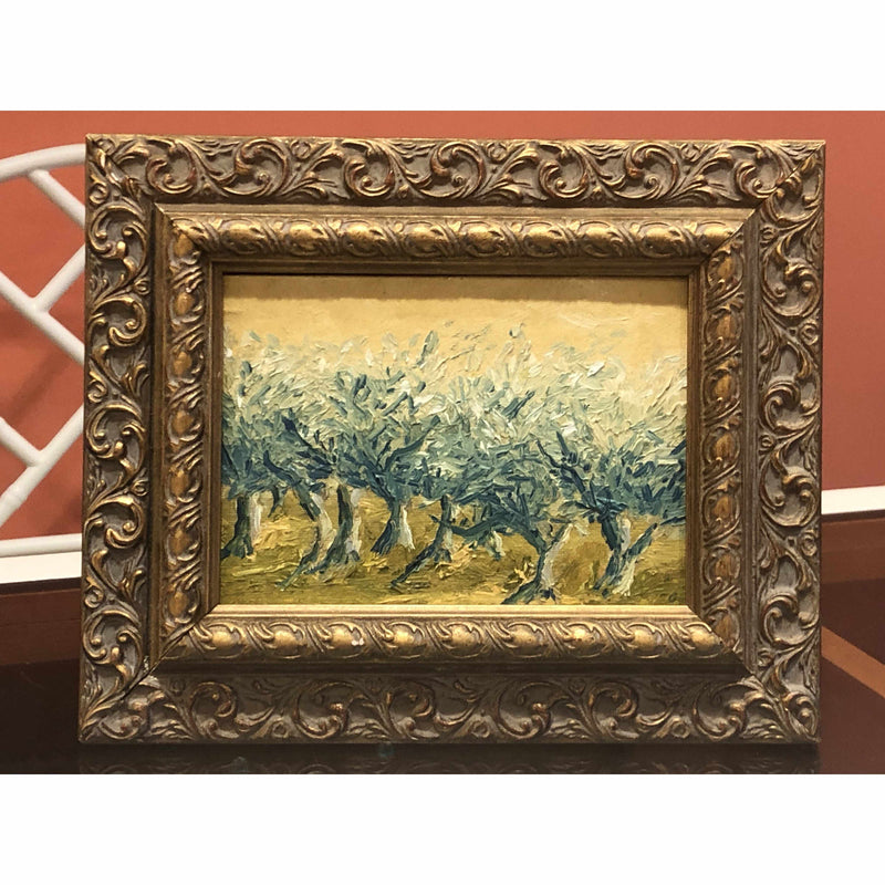 Framed Oil on Canvas by Diane Carnevale - Russell Orchards, Spring-Room Tonic