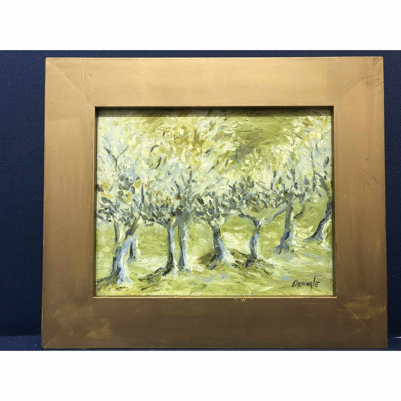 Framed Oil on Canvas by Diane Carnevale - Russell Orchards, Summer-Room Tonic
