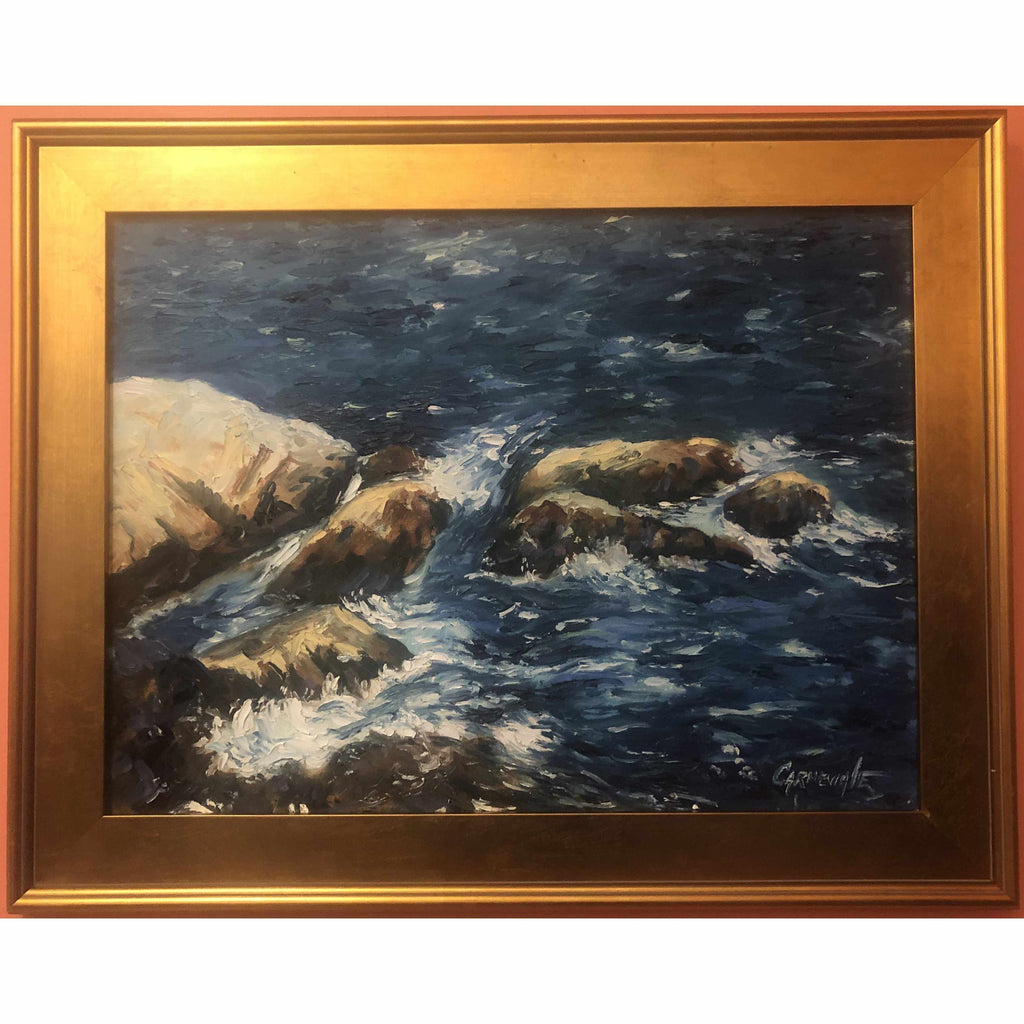 Framed Oil on Canvas by Diane Carnevale - Song of The Sea-Room Tonic