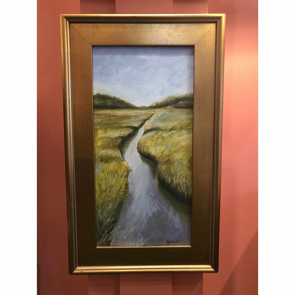 Framed Oil on Canvas by Diane Carnevale - Sunday Morning Soliloquy-Room Tonic