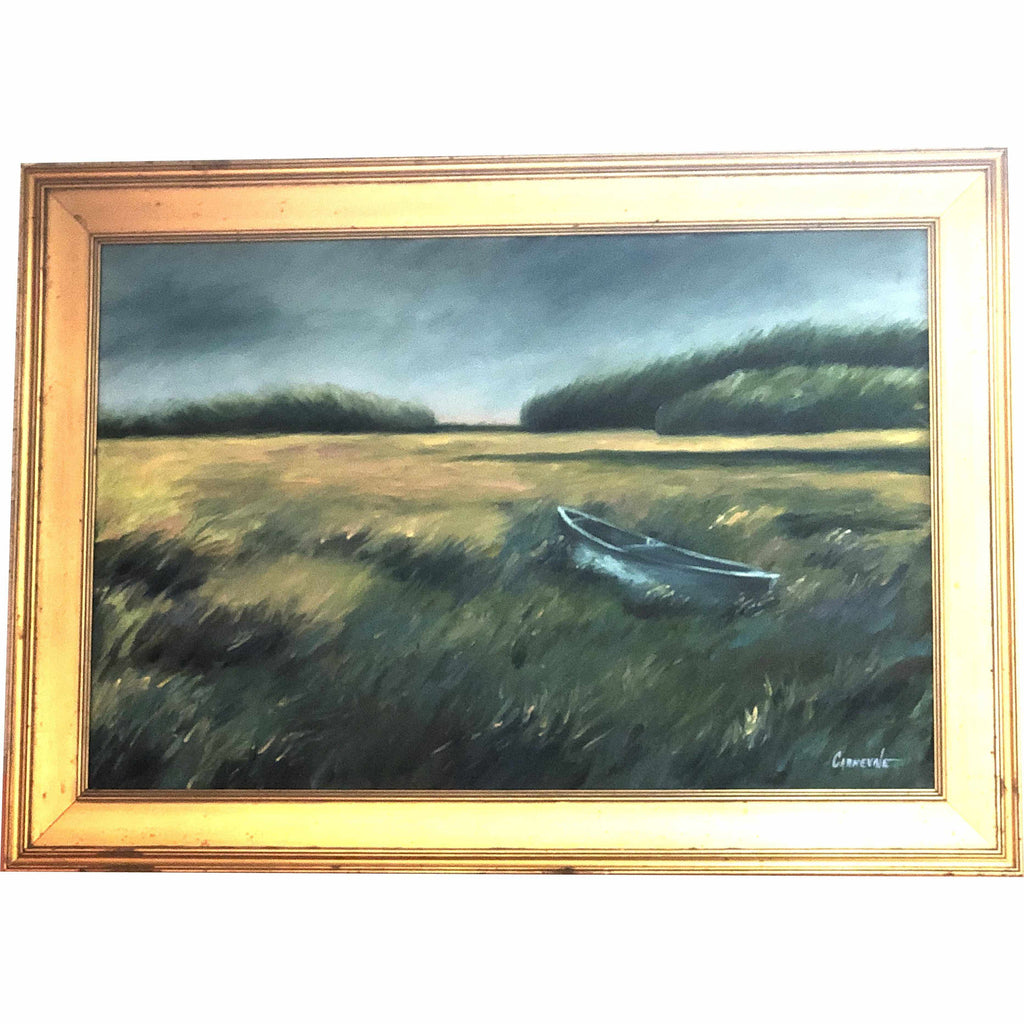 Framed Oil on Canvas by Diane Carnevale - View to Hog Island-Room Tonic