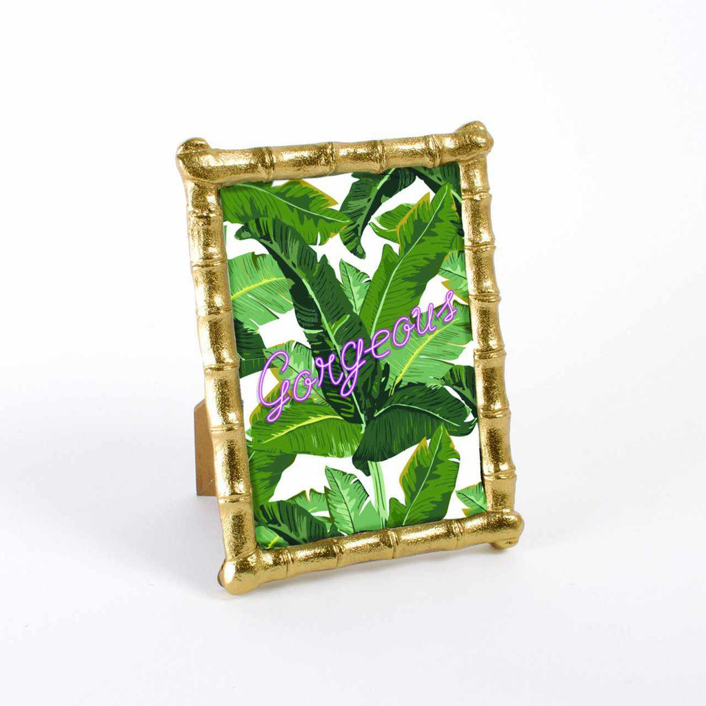 Gold Bamboo 5x7 Picture Frame-Room Tonic