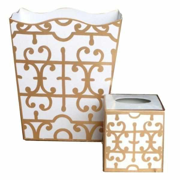 Gold Klimt Wastebasket-Room Tonic