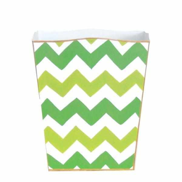 Green Bargello Wastebasket-Room Tonic