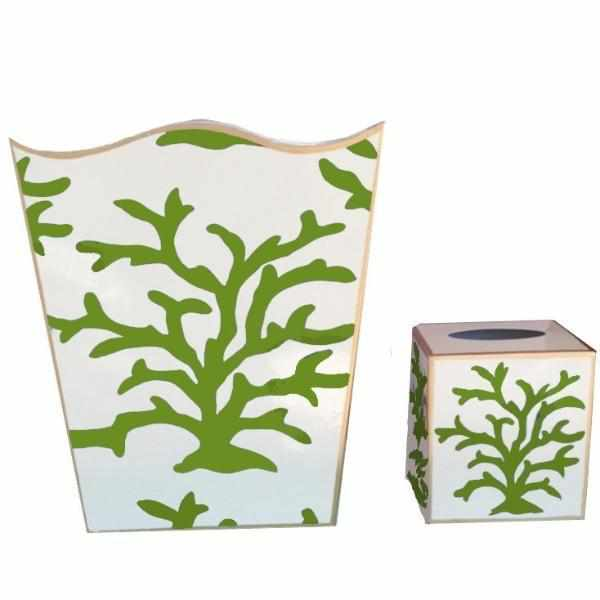 Green Coral Wastebasket-Room Tonic