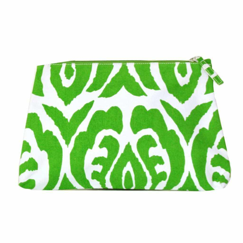 Green Ikat Travel Bag, Large-Room Tonic
