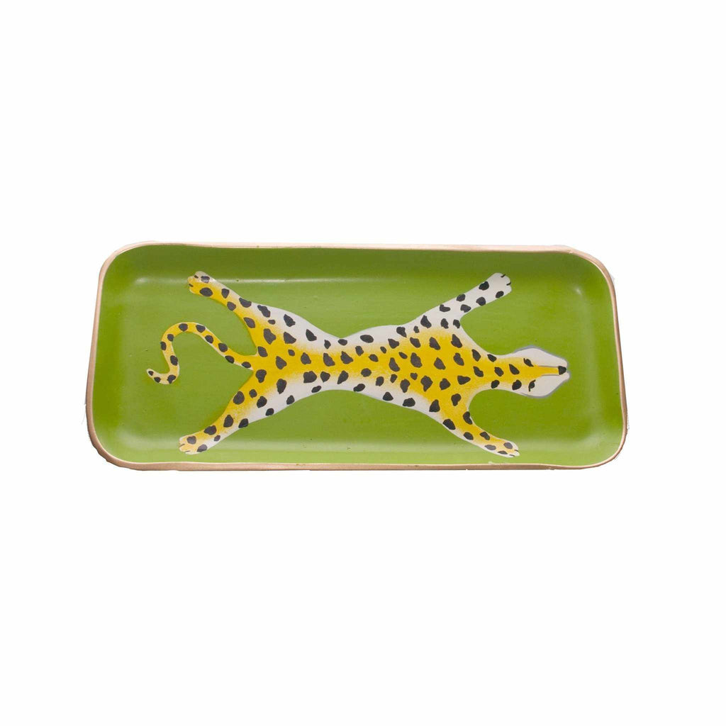 Green Leopard Tray, Small-Room Tonic
