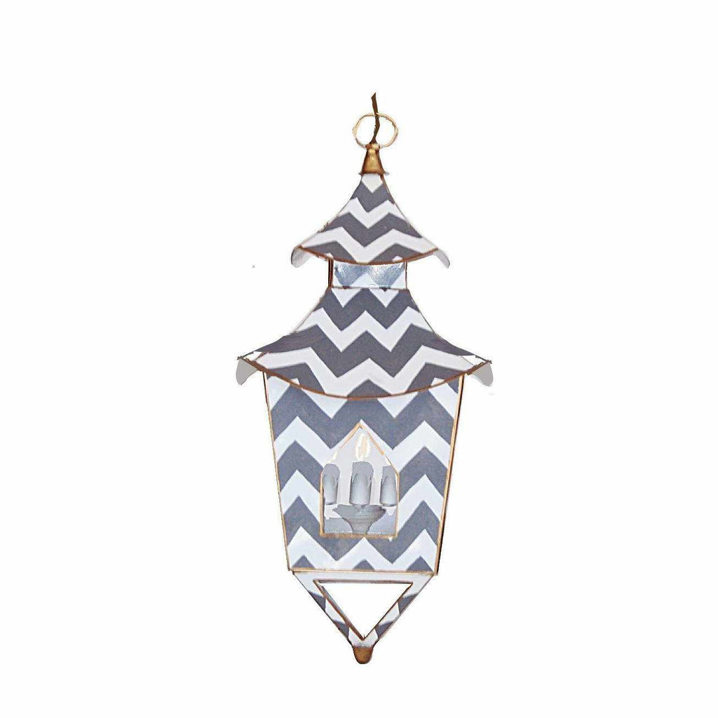 Grey Bargello Lantern #060-GrB