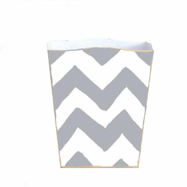Grey Bargello Wastebasket-Room Tonic