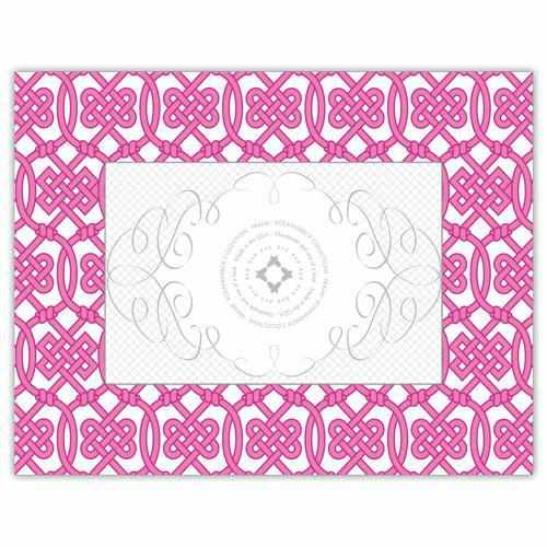 Hand-Made Wood Frame 4x6 - Hot Pink Geometric-Room Tonic