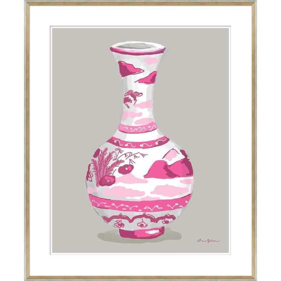 Indienne Vase in Pink-Room Tonic