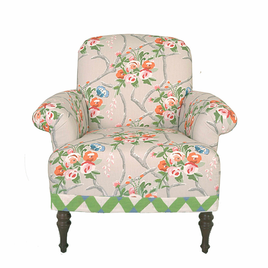 Josie Club Chair in Chiswell Chintz-Room Tonic
