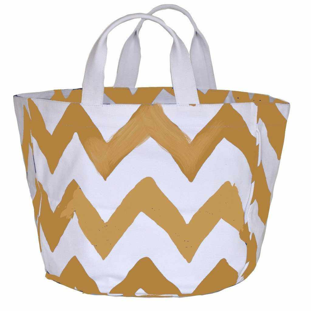 Khaki Bargello Bucket Tote-Room Tonic