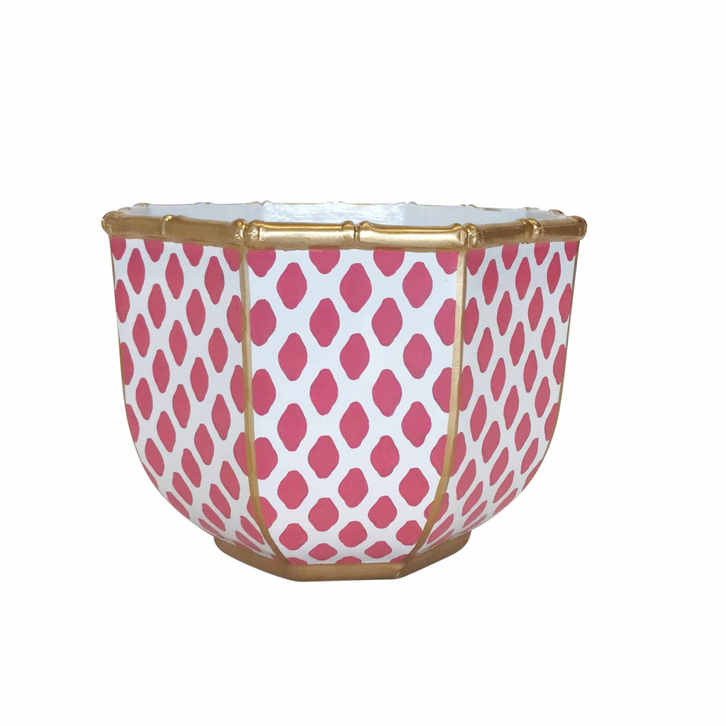 Large Bamboo Bowl in Parsi Pink-Room Tonic