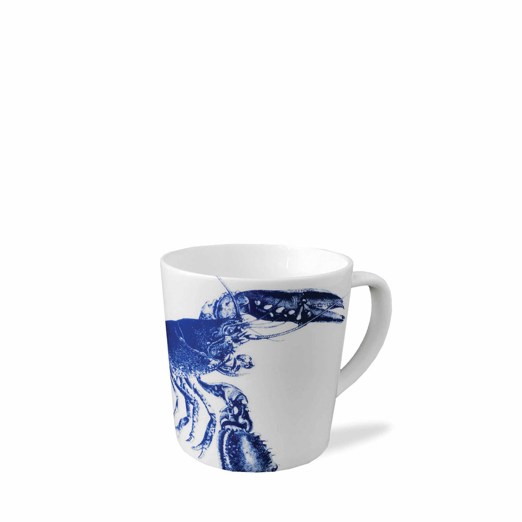 Blue Lobster Wide Coffee Mug