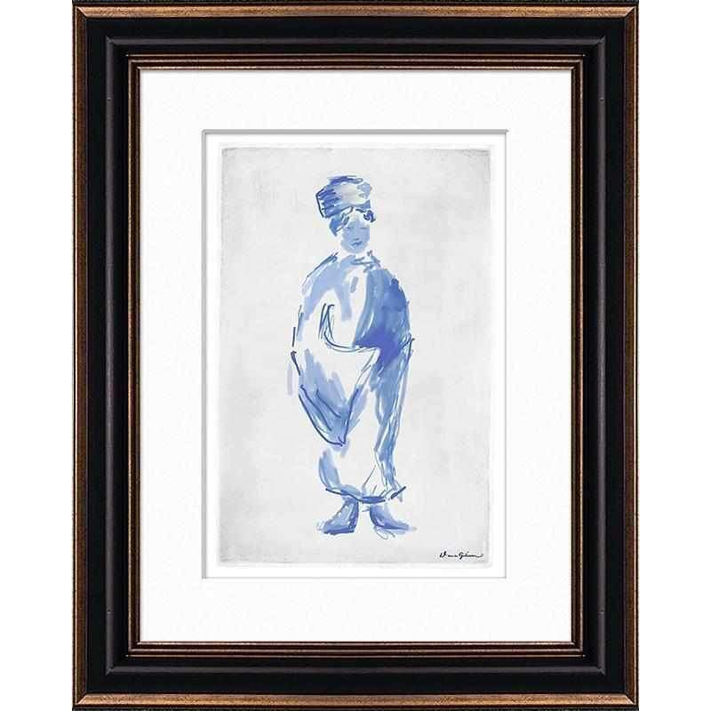 Mandarin Lady - Large Sketch Matted and Framed DG-0123A