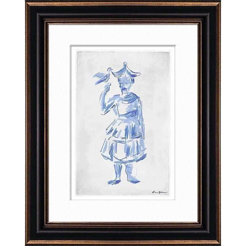 Mandarin Man - Large Sketch Matted and Framed DG-0123B