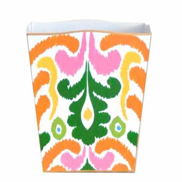 Multi Ikat Wastebasket-Room Tonic