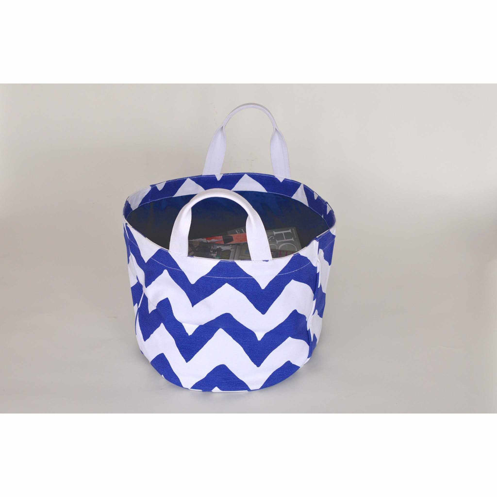 Navy Bargello Bucket Tote-Room Tonic