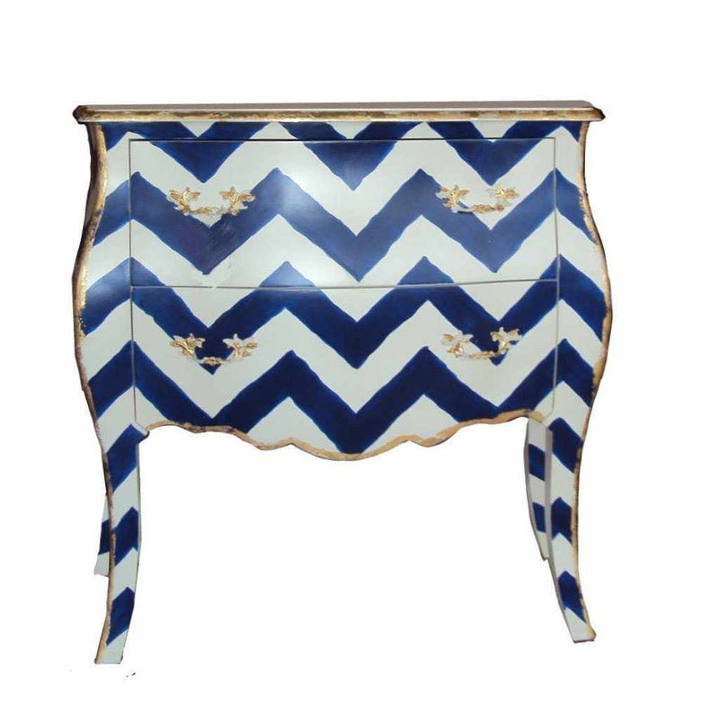 Navy Bargello Chest-Room Tonic
