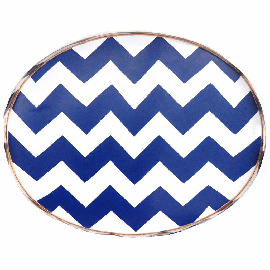 Navy Bargello Tray/Large-Room Tonic