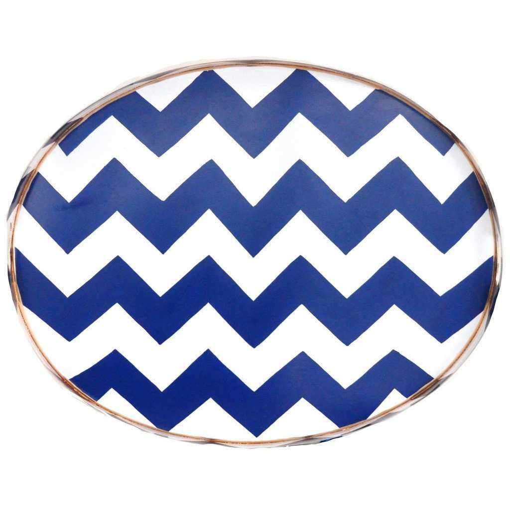 Navy Bargello Tray/Large 025-NB