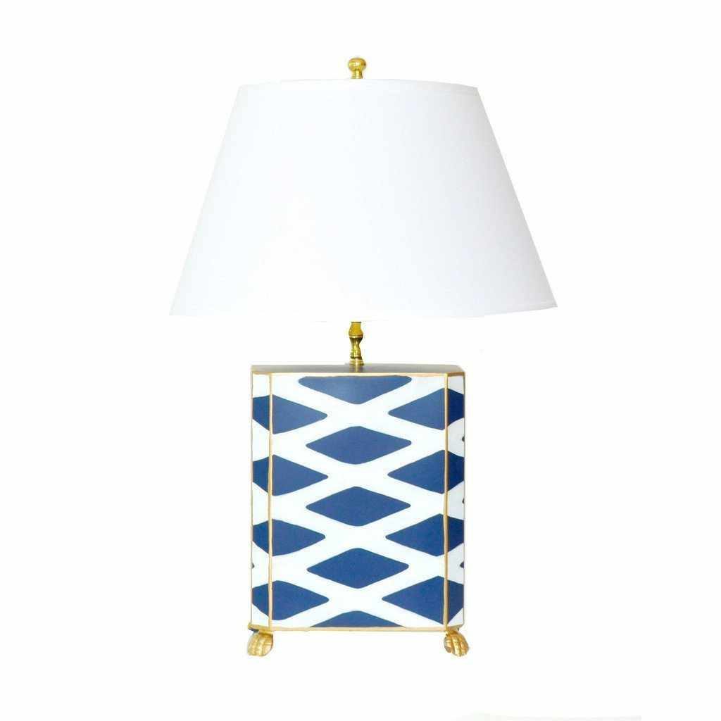 Navy Parthenon Lamp