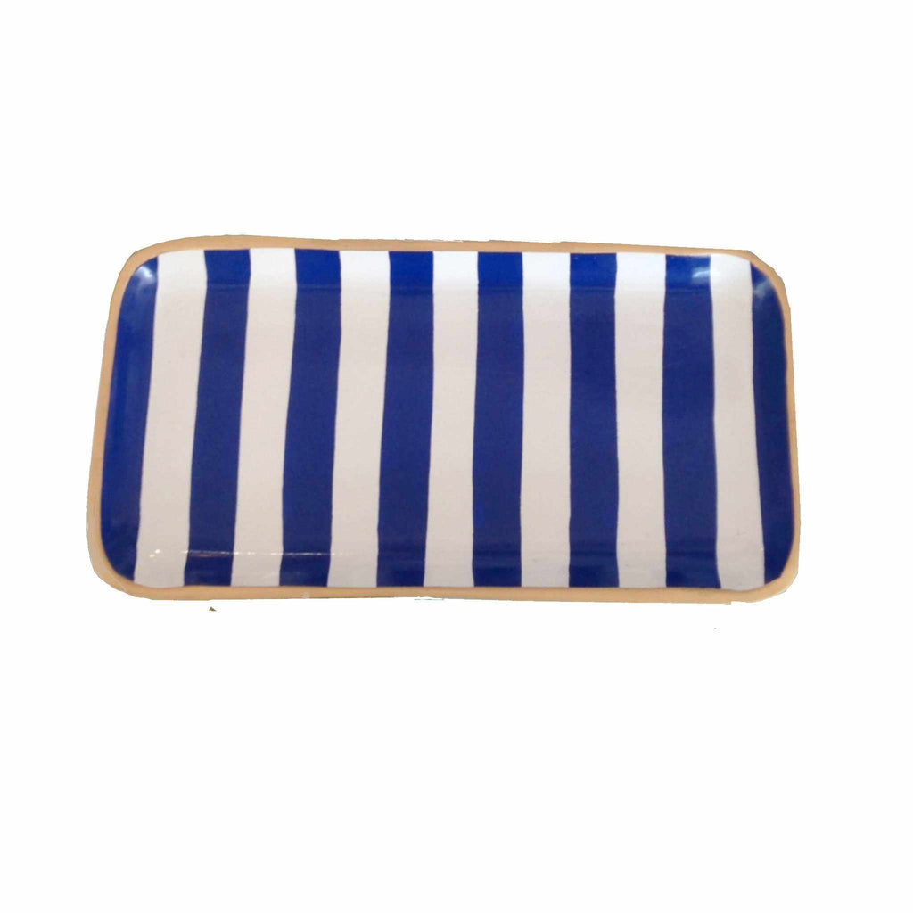 Navy Stripe Tray-Room Tonic