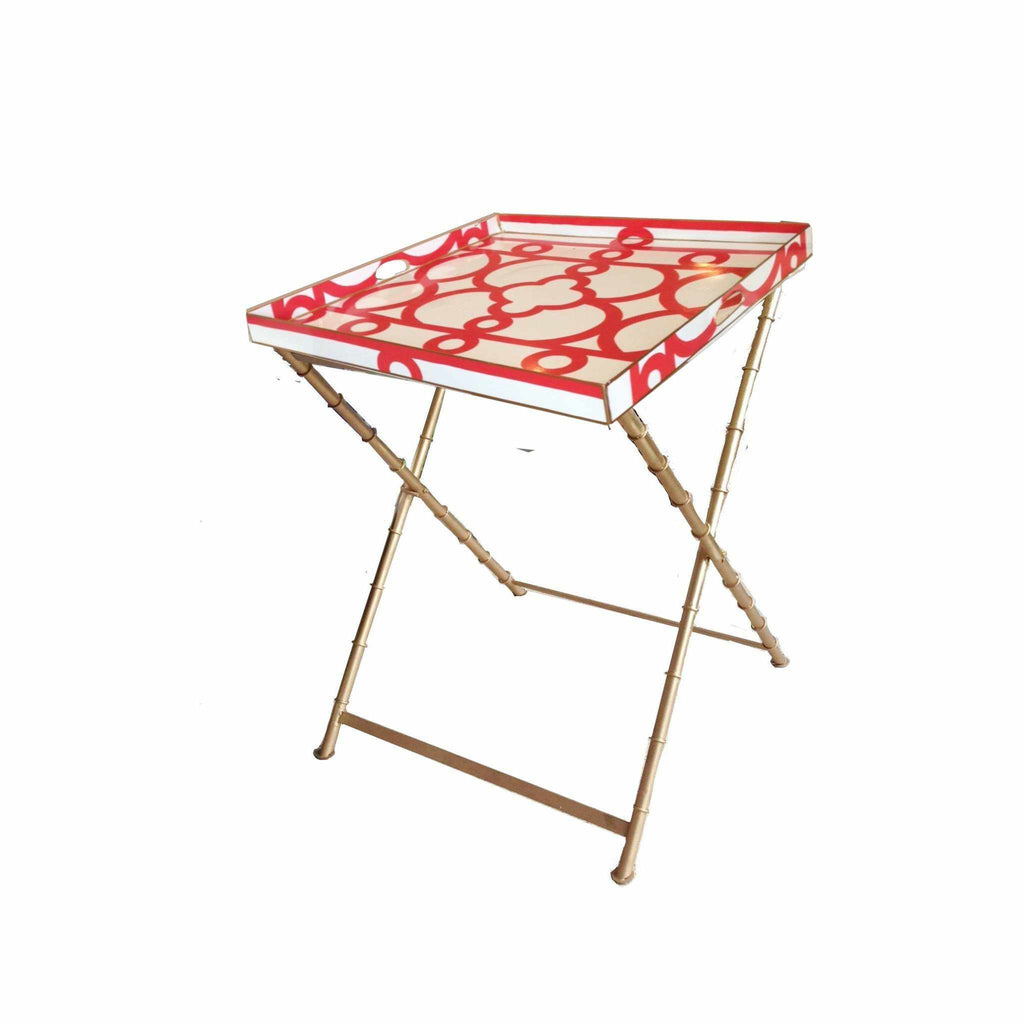 Orange Ming Side Table-Room Tonic