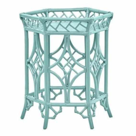 Pagoda Accent Table Lacquered in Lime Rickey-Room Tonic