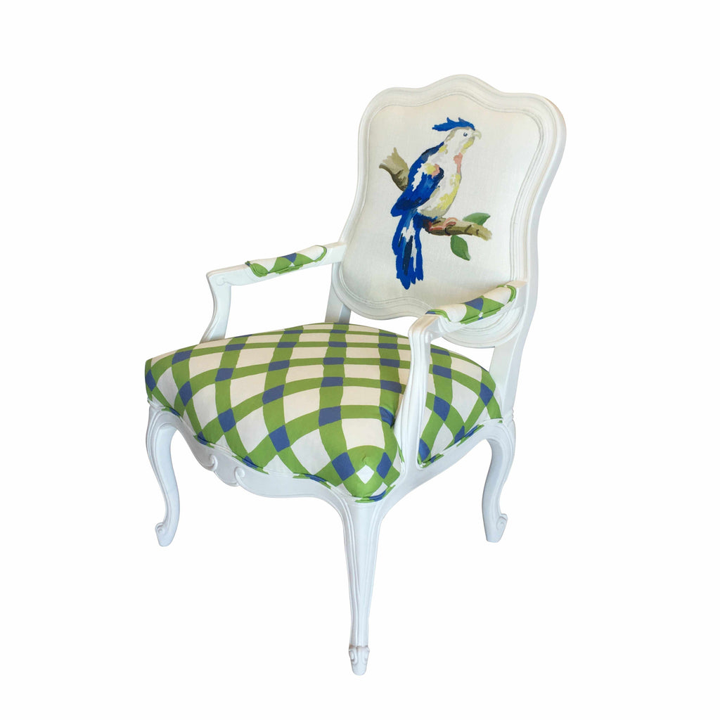 Parrot Chair in Blue 600820-PBl (C401435)