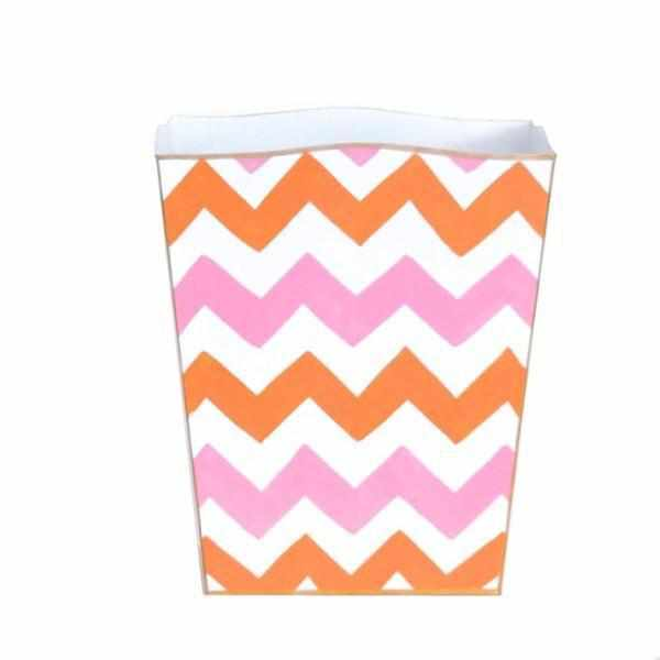 Pink Bargello Wastebasket-Room Tonic