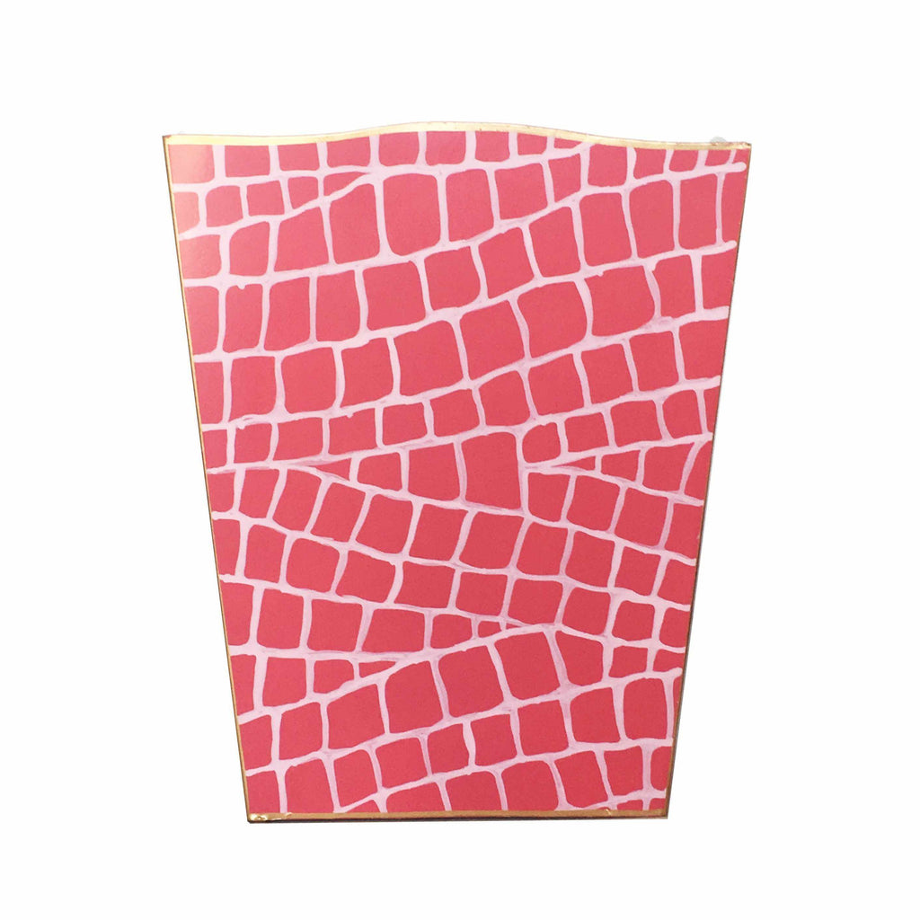 Pink Croc Wastebasket-Room Tonic
