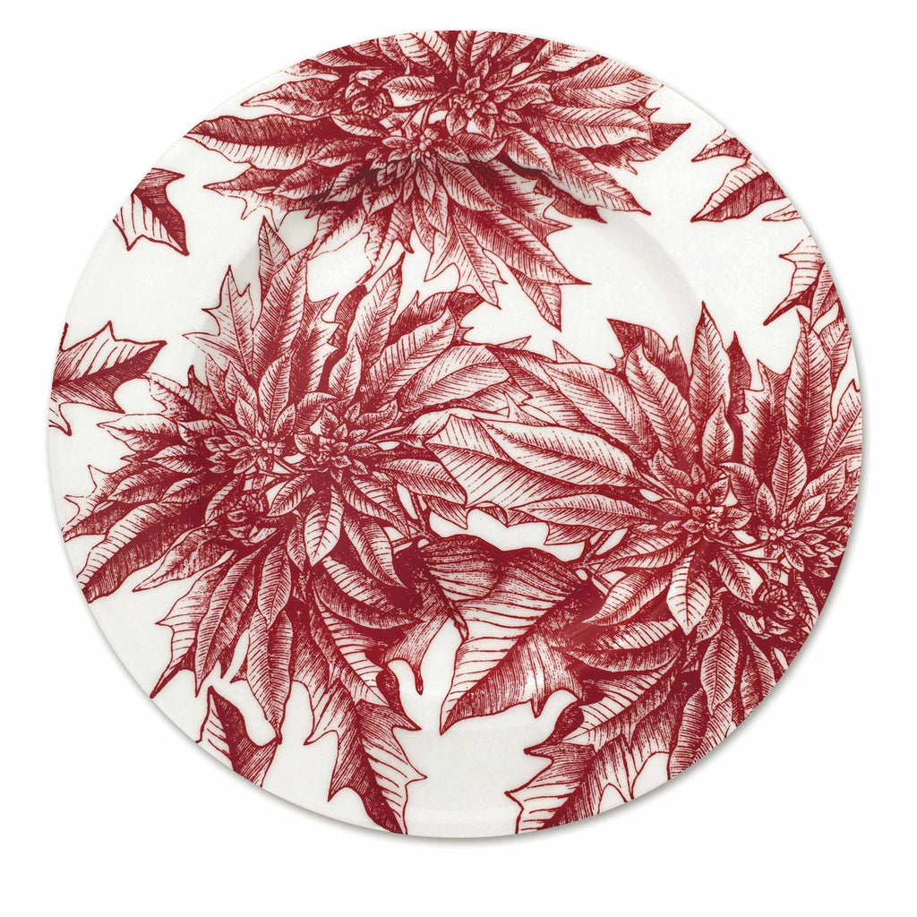 Poinsettia Charger Plate-Room Tonic