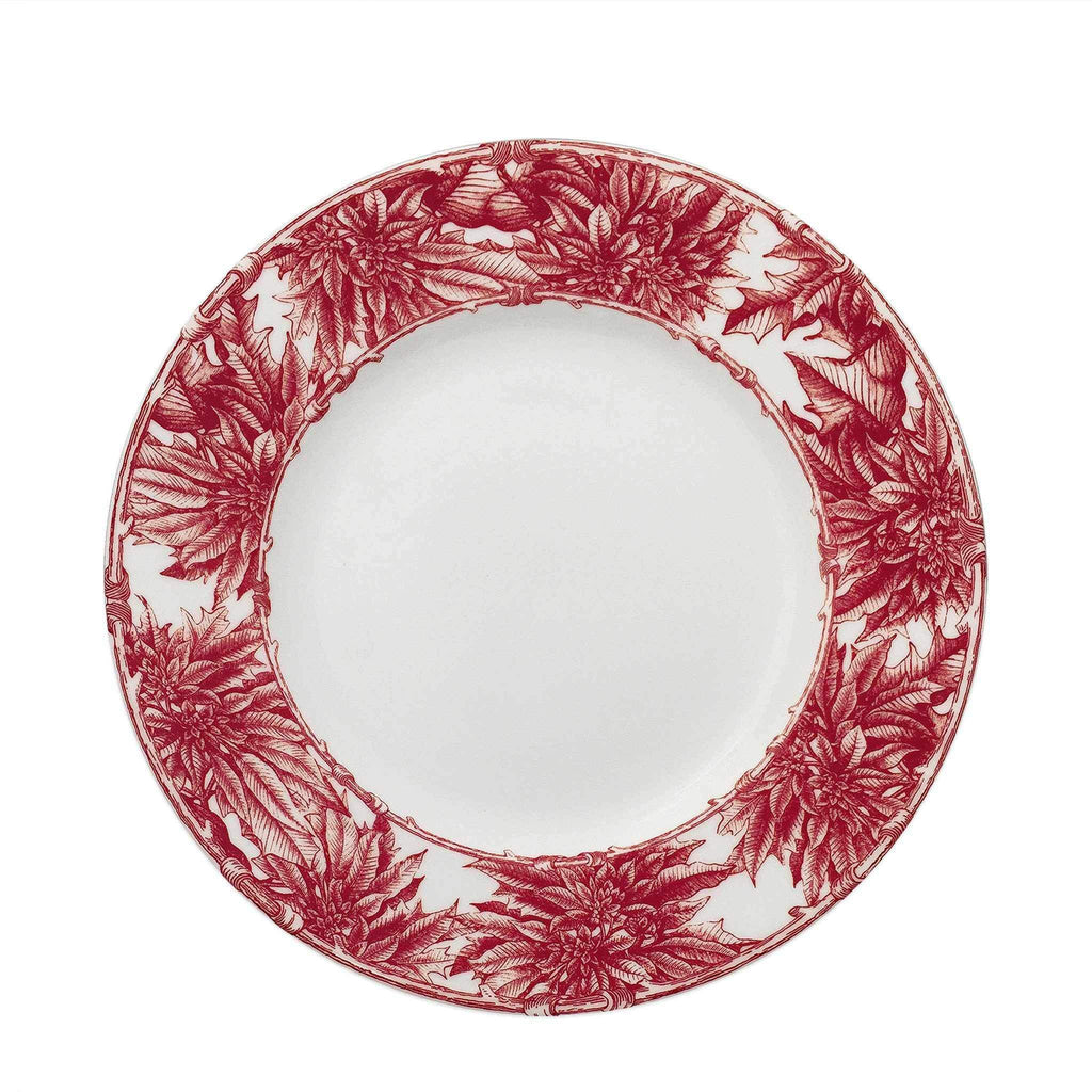 Poinsettia Red Dinner Plate