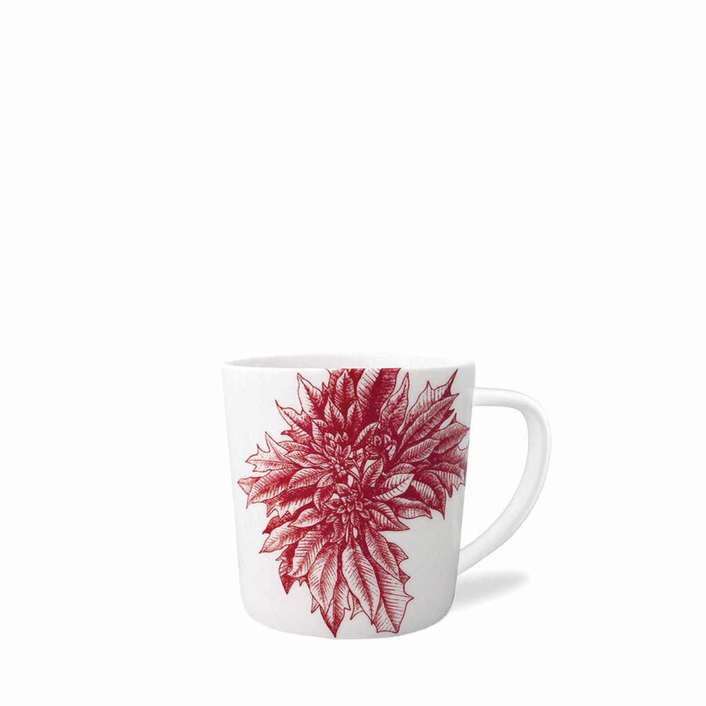 Poinsettia Red Wide Mug-Room Tonic