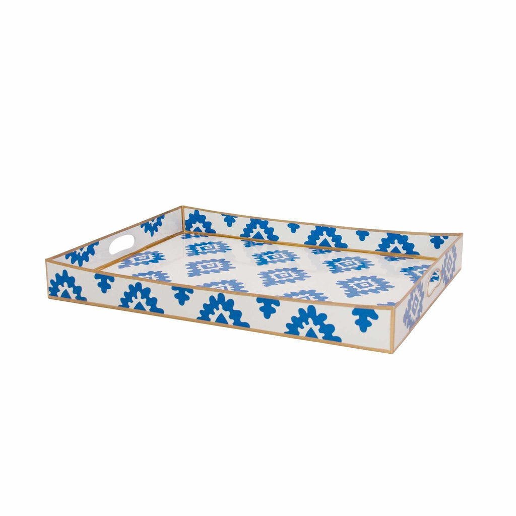 Rectangle Serving Tray in Navy Block Print 114-NBP
