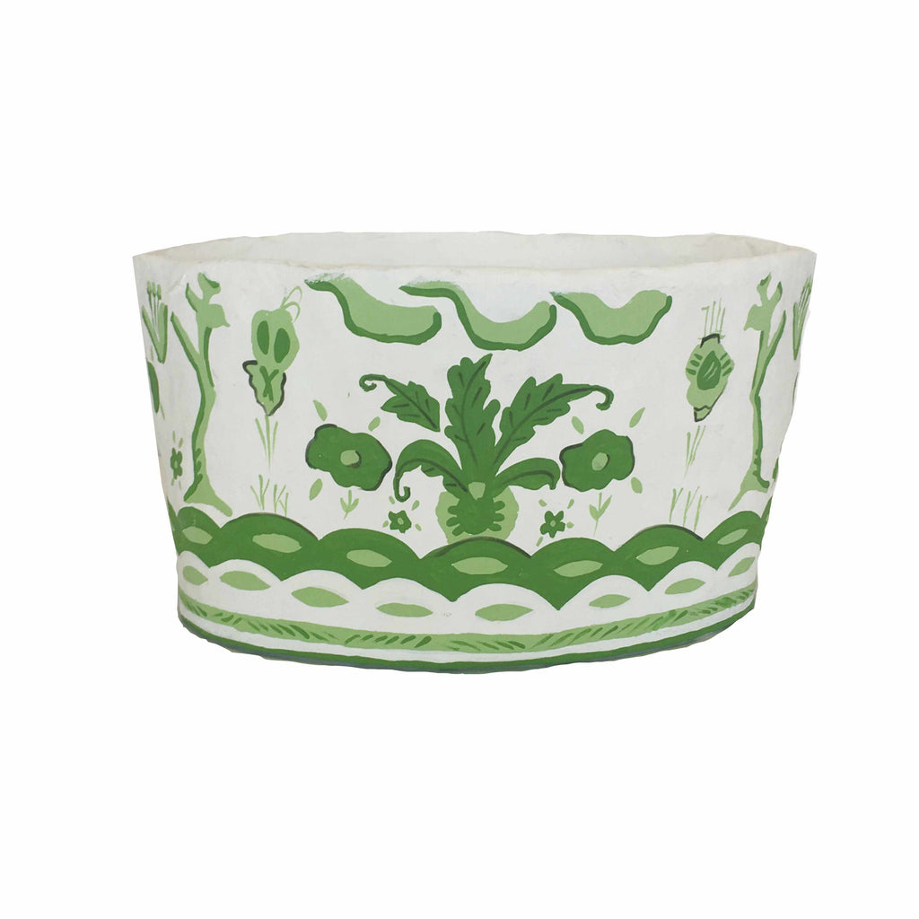 Sullivan Oval Planter in Green 230-SulG