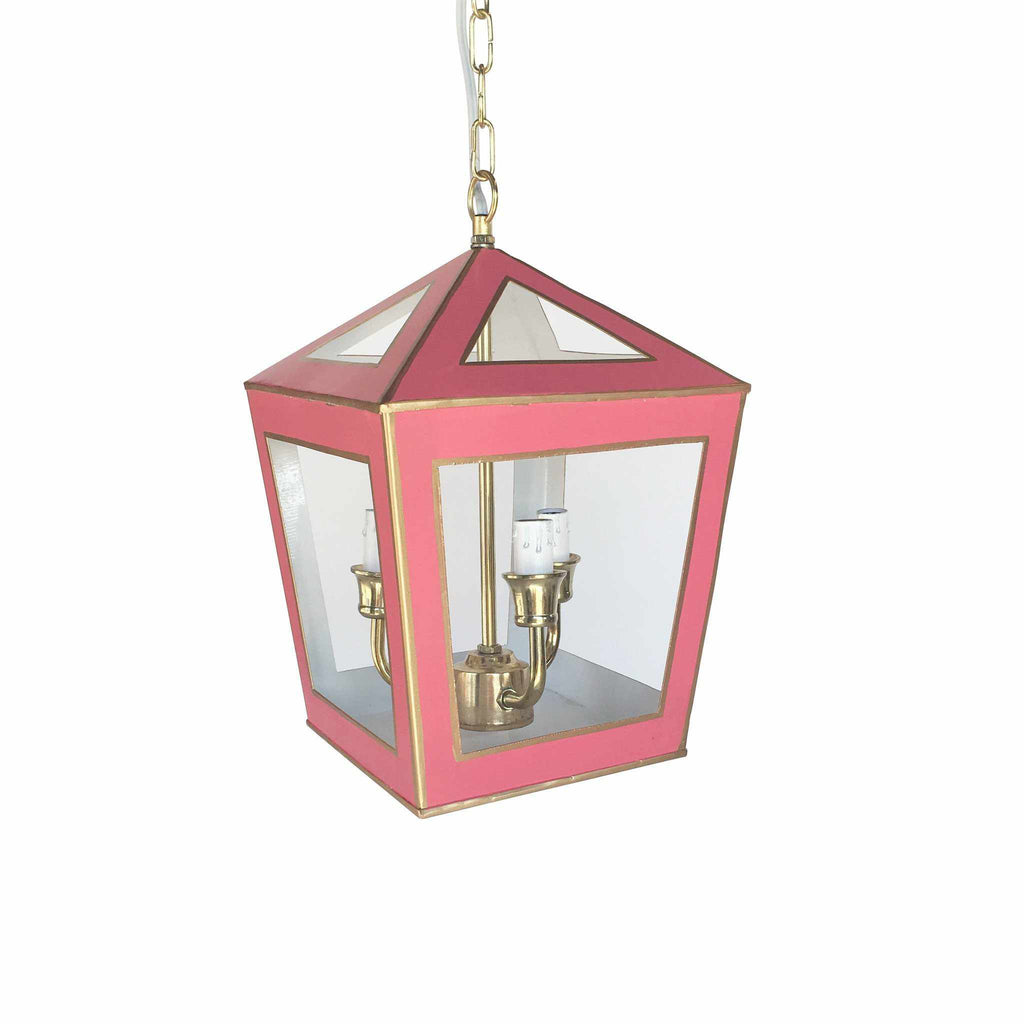 Tucker Lantern in Solid Pink-Room Tonic