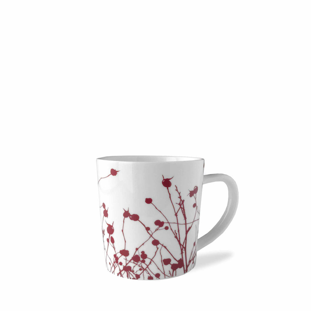 Winterberries Red Wide Coffee or Cocoa Mug