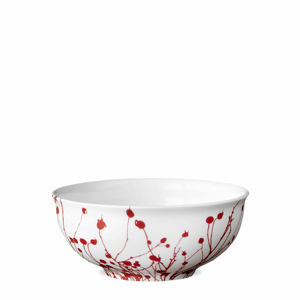 Winterberries Red Cereal Soup Salad Bowl