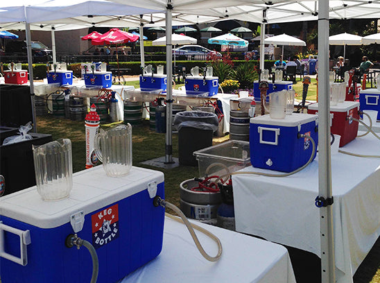 Jockey Boxes set up for a party