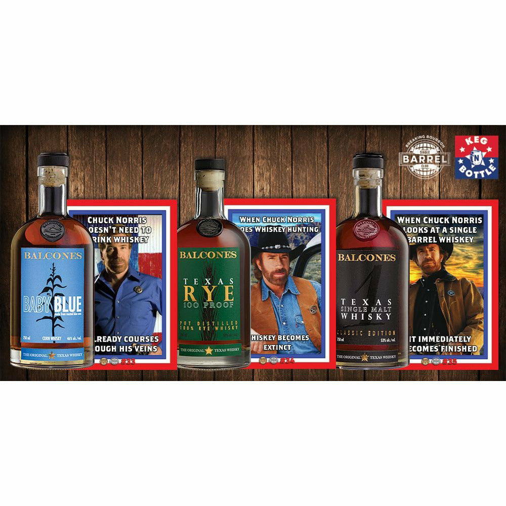 Balcones -Breaking Bourbon 3-Pack - (#33-True Blue Corn, #34-Texas Rye, #35-Single Malt) 750 ml