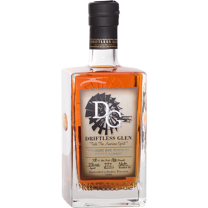 Driftless Glen Rye Single Barrel (Barrel Proof) - Bourbon Pursuit Private Barrel Pick 750 ml