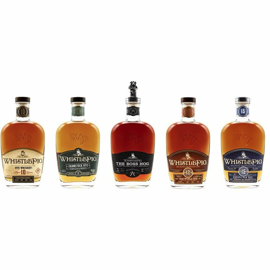 WhistlePig Collection Set 5 Pack - (Includes: THE BOSS HOG 六: THE SAMURAI SCIENTIST) (3.75 L)