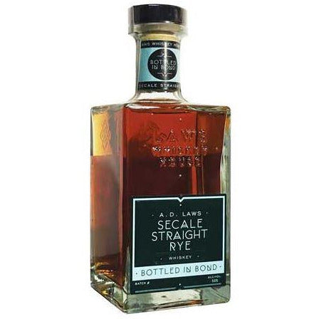 A.D. Laws Bottled in Bond Secale Straight Rye 750 ML