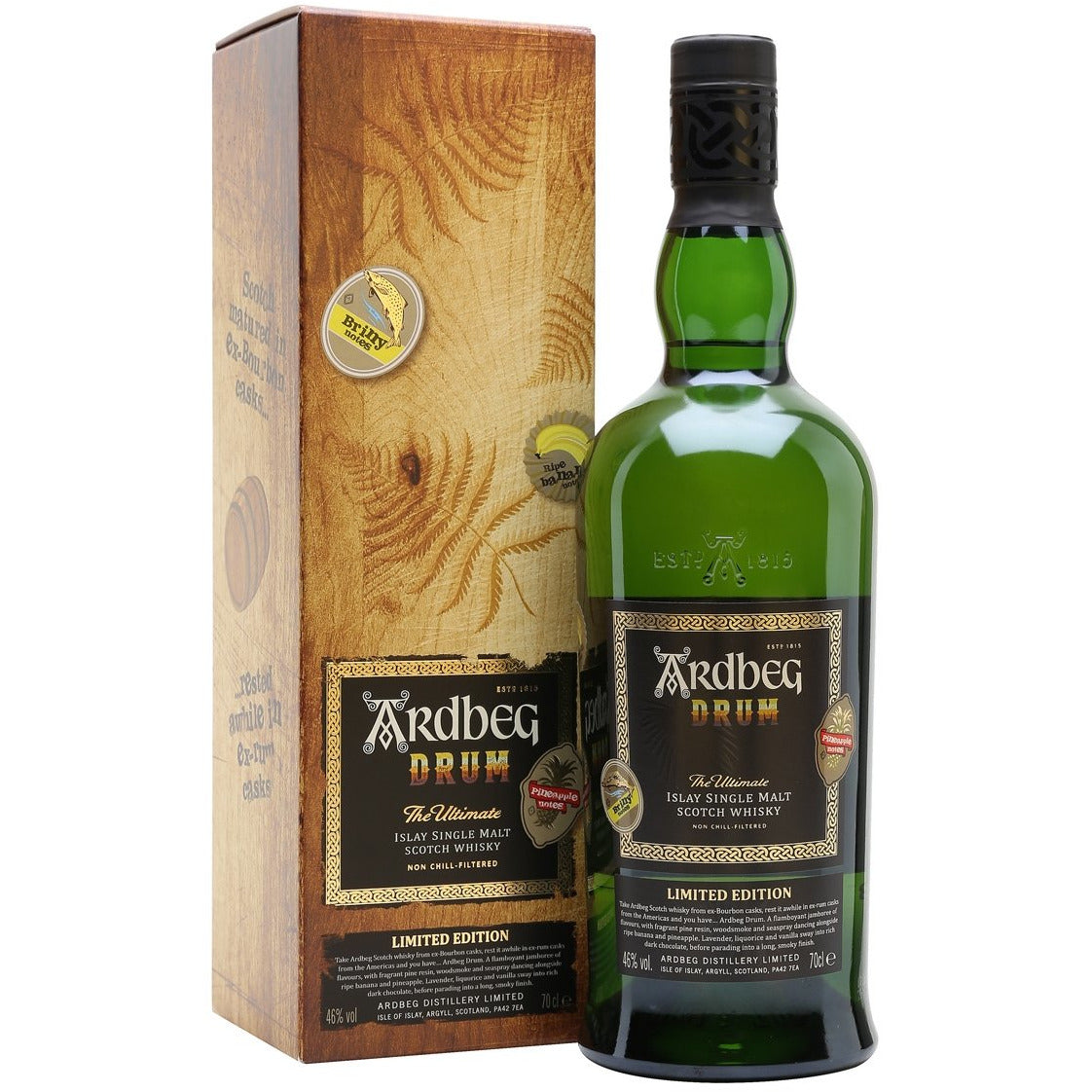 Ardbeg Drum Islay Single Malt Whisky 750 mL