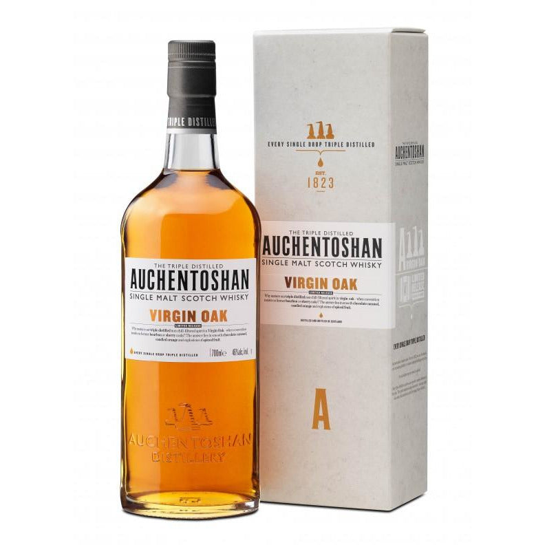 Auchentoshan Virgin Oak Single Malt Scotch Whiskey 750 ML