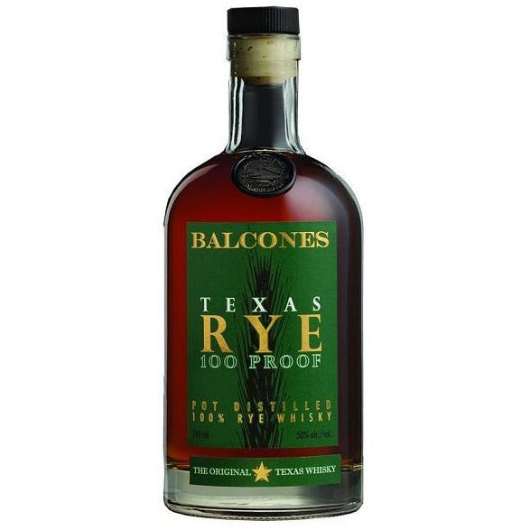Balcones Texas Rye Whiskey 100 Proof 750 ML