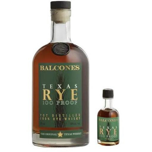 Balcones Texas Rye Whiskey 750 ml & 50 ml